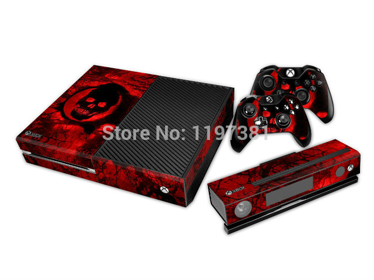 Custom High Quality PVC Skin Sticker For Xbox One Console + 2 Pcs Controller Skin + Kinect Protective Cover FREE SHIPPING(China (Mainland))
