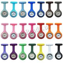 Nuevas enfermeras relojes médico observa portátil reloj de bolsillo broches de silicona túnica baterías médica enfermera reloj de cuarzo con el Clip(China (Mainland))