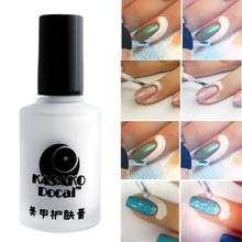 15ml White Peel Off Liquid Nail Art Tape Latex Tape Finger Skin Protected Glue Base Coat Care Nail Art Palisade Cuticle Cream(China (Mainland))