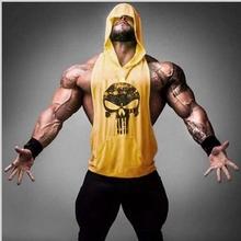 Stringer Hoodies Bodybuilding Clothing Sports Gym Tops Men Fitness Shark Muscle Sleeveless Sweatshirt Shirts Hoody