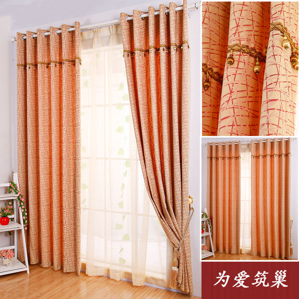 room curtains modern jacquard striped curtain burnt orange curtains