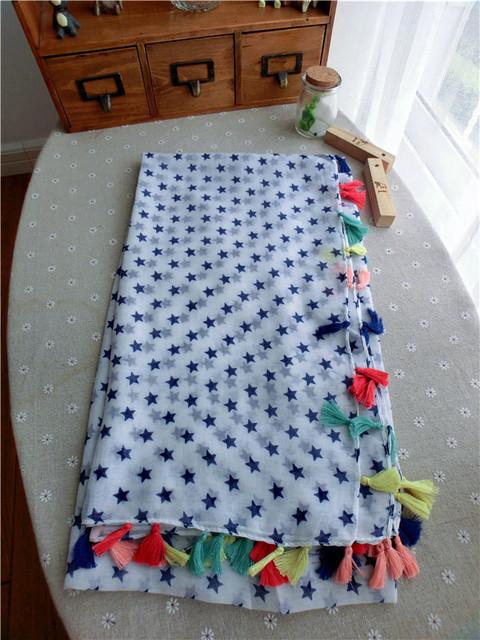 Южнокорейская звезда красочный шарф шаль кистями небольшой модели , обусловленные тонкий хлопок шарф летом солнцезащитный крем пляжное полотенце