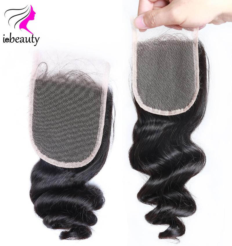 3 Bundles Brazilian Loose Wave with Closure Human Hair Weave 7A Unprocessed Virgin Hair Brazilian Virgin Hair With Closure Lace