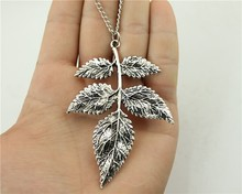 Buy WYSIWYG fashion antique silver bronze tone 79*56mm branch pendant necklace, 70cm chain long necklace for $1.21 in AliExpress store