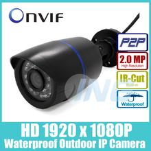 Impermeable 1920x1080 P 2.0MP IP Bullet Cámara 24LED IR Al Aire Libre Cámara de Visión Nocturna ONVIF P2P IP CCTV Cámara de seguridad con IR-Cut(China (Mainland))