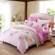 Home textile 100 Cotton Bedding set bed linen Duvet cover Bed sheet pillowcase bedding sets full queen king Size quality(China (Mainland))