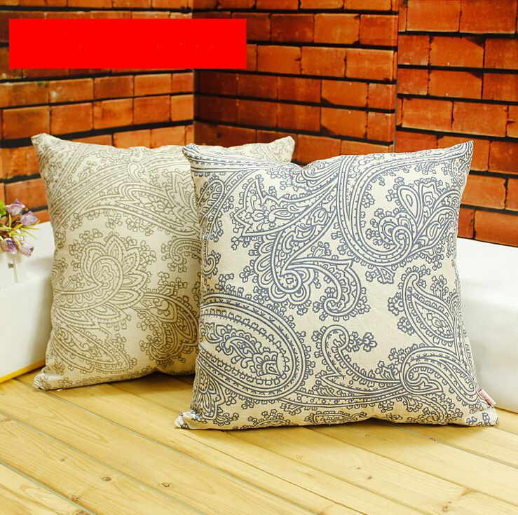 How To Make A Decorative Pillow Case : paisley decorative pillows case vintage couch car cushion covers euro pillow sham cover to pad ...