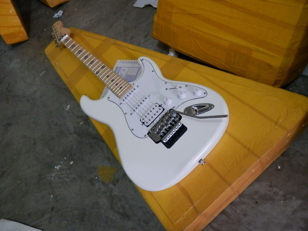 Free shipping highest quality Customized Electric Guitar, ST Guitar, with Floyd Rose Tremolo, Pearly White 227  Real photos<br><br>Aliexpress