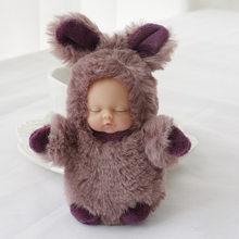 Мультяшный милый кролик, Спящий ребенок, кукла, брелок, детская игрушка, плюшевый мех, помпон, брелок для ключей, Женская Автомобильная сумка...(China)