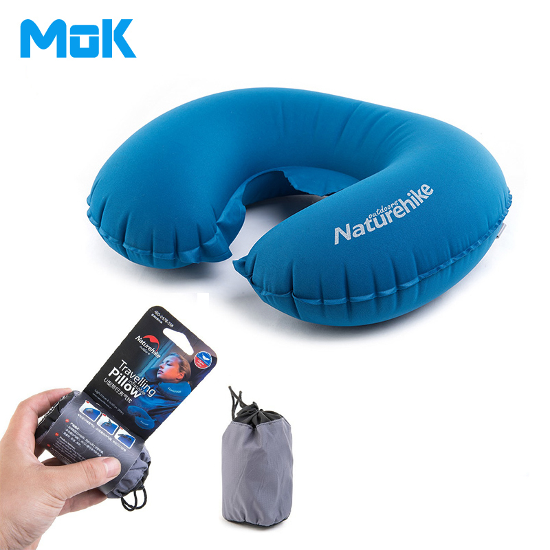 100% Quality Guaranteed U Shaped Inflatable Travelling Pillow Portable Small Inflatable Neck Pillow Travelling Headrest 1 Piece(China (Mainland))