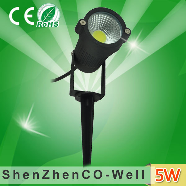 DC12V AC220V 5W COB led garden light/spot light outdoor with stake,10pcs/lot,Free Shipping!(China (Mainland))