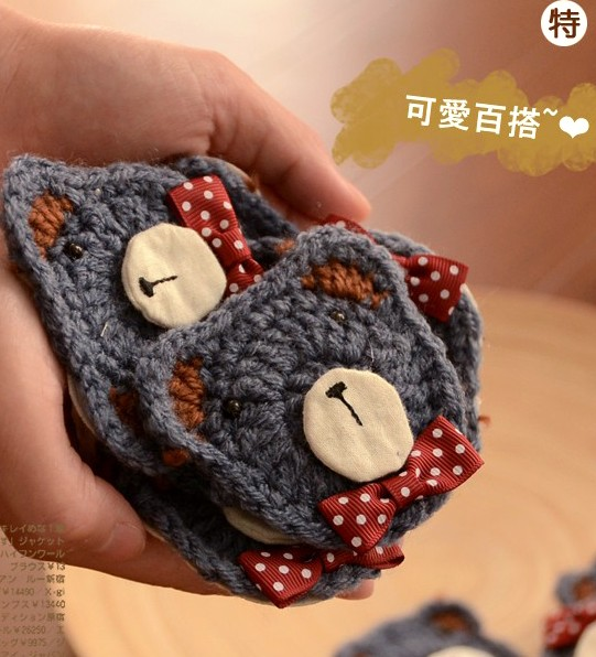 Fresh hand for prepared to spend bow bear brooch women's autumn(China (Mainland))