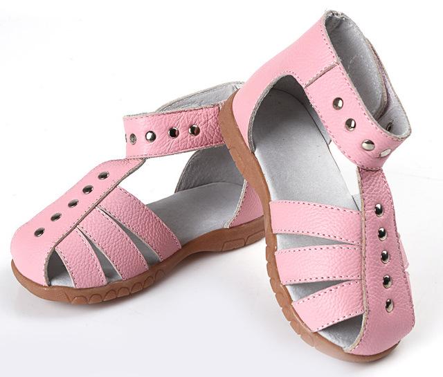 2016 оригинальные кожаные сандалии для девушки римского стиля лета малышей реальные ...