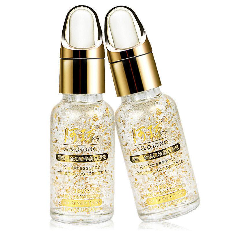 1PCS Day Creme Anti Aging Serum 24K Nano Gold Face Cream To Remove Dark Spots Skin Whitening Essence 20ml(China (Mainland))