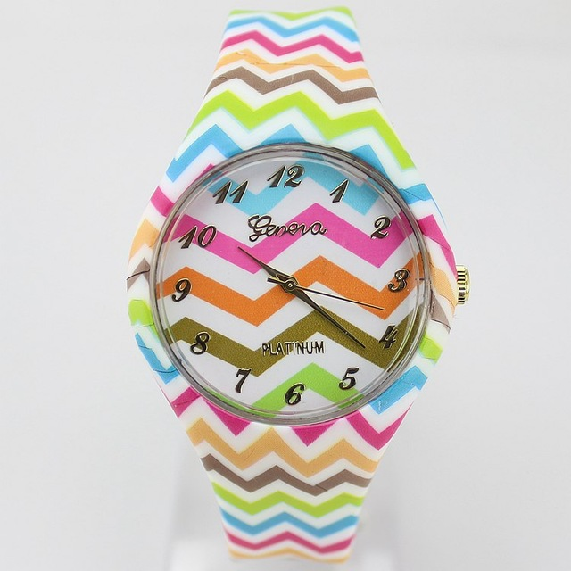 Гаджет  New sales Pink Rose Flower Silicone Watch Reloje Women Dress Watches Girl Candy Plastic Wristwatches Geneva Clocks Relojes Mujer None Часы