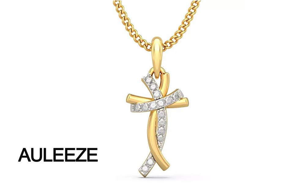 HTB1wEyhMVXXXXXoXXXXq6xXFXXXX - Classic Style Humanoid Cross Pendants 14K Yellow Gold Natural Real Diamond Jewelry Necklace Pendants Engagement Wedding Jewelry