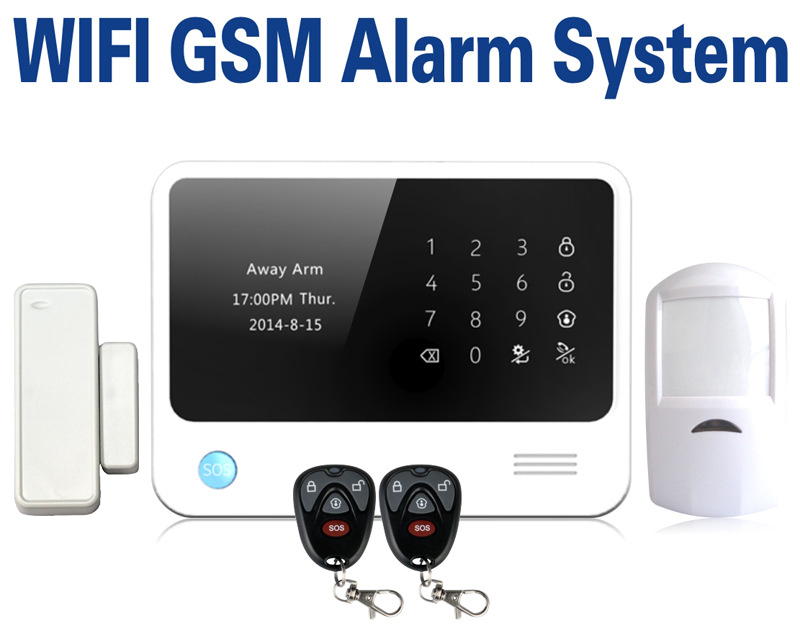 product English French Spanish Russian Language Smart Home Alarm Wireless GSM WIFI GPRS Alarm System Support IOS Android <font><b>APP</b></font>
