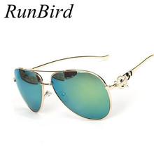 2016 Fashion Luxury Sunglasses Women Brand Designer Sun Glasses Gafas De Sol Metal Fox Vintage Oculos Feminino M014 - RunBird Co., LTD store
