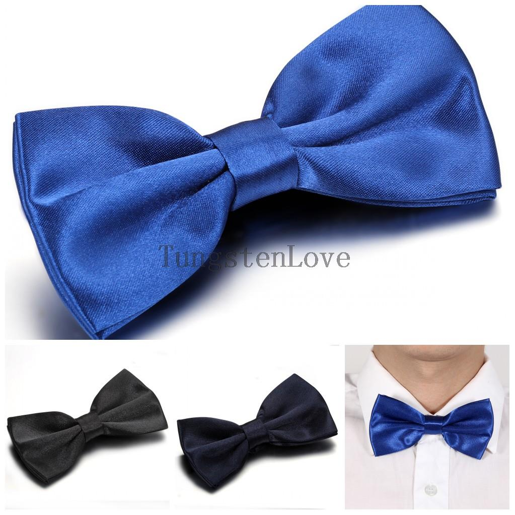 2015 Black Dark Blue Solid Bow Tie Mens Butterfly Cravat Bowtie Male Marriage Wedding Bow Ties For Men 3 colors selection(China (Mainland))