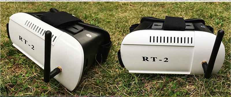 ถูก จัดส่งฟรี! RT2 3DจริงเสมือนVRวิดีโอFPVแว่นตาแว่นตาสำหรับนักวิ่ง250 QR X350PRO X4