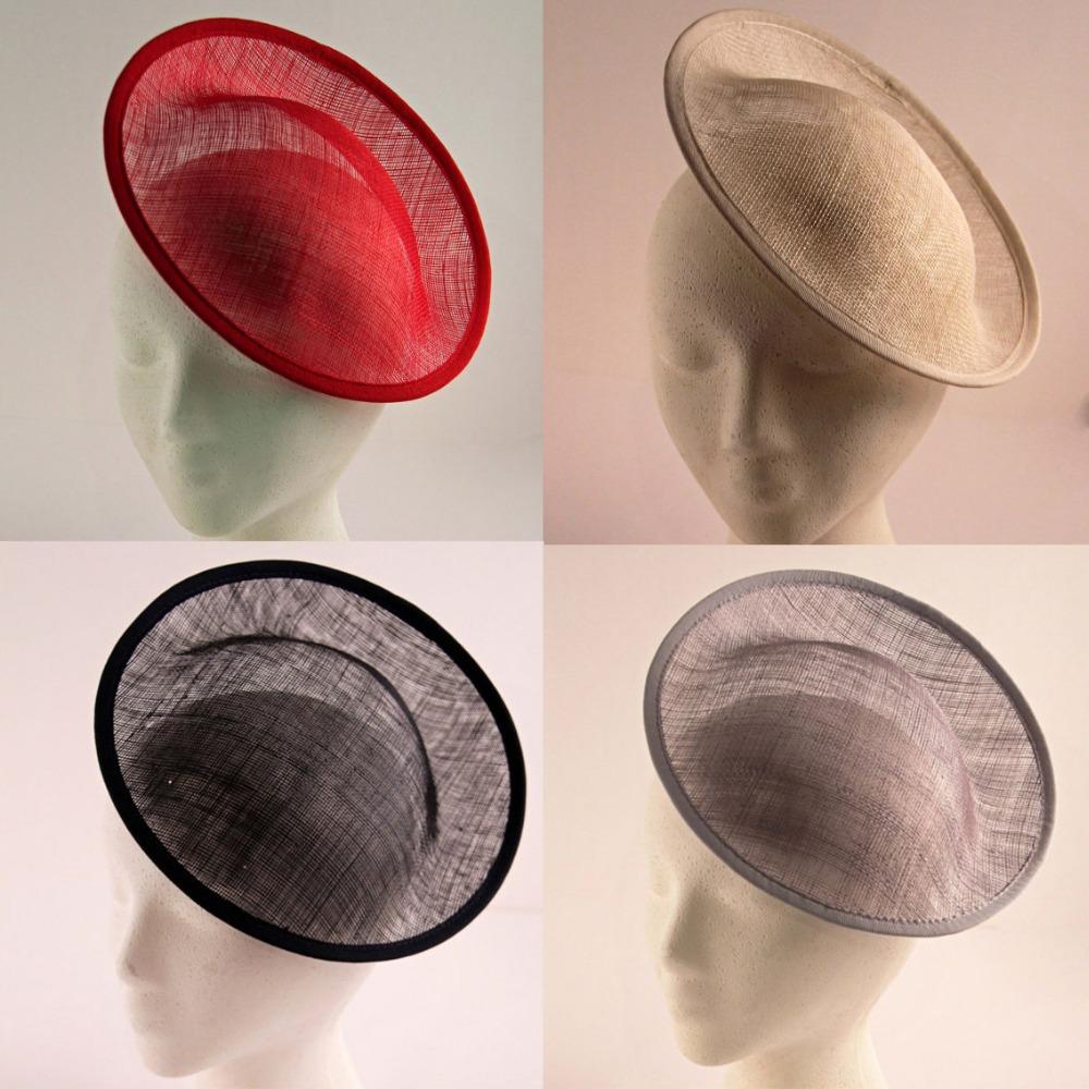 5psc/lot,20cm round Sinamay base Fascinator hat base sinamay hat base for fascinator diy fascinator bases free shipping(China (Mainland))