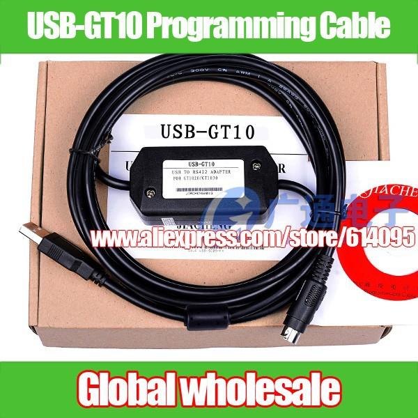 1 шт. usb gt10 Кабель для программирования Mitsubishi/gt1020 gt1030 сенсорный экран кабеля 1