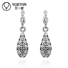 Wholesale 18K Gold Plated Earrings For Women Wedding jewelry Brincos da Mulher rose gold yellow gold Inlaid Crystal(China (Mainland))