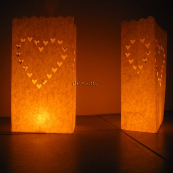 Free shopping 20 pcs Tea light Holder Luminaria Paper Lantern Candle Bag For BBQ Christmas Party Home Outdoor Wedding Decoration(China (Mainland))
