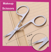 2PCS Stainless Steel Beauty Makeup Scissors Mini Small Eyebrow Nose Hair Manicure Pedicure Shears Tool Tijeras Maquillaje