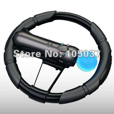 free shipping, MOVE RACING CAR STEERING WHEEL BY CELLAPOD CASES for PS3 Move(China (Mainland))
