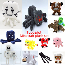15pcs/lot Minecraft Toys High Quality Minecraft Plush Toys Movie & TV Minecraft Creeper Toys For Children Presents Wholesale(China (Mainland))