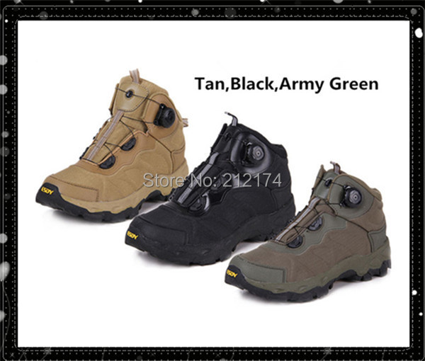 Outdoor Rapid Reaction BOA Design Lacing System Military Boots Mens Boots Lightweight Cushioning Climbing Shoes(China (Mainland))