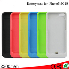 2200mAh For iPhone 5 5S 5C SE External Portable Battery Charger case Backup Charging Power Bank Case Cover for iphone 5 5S 5C SE(China (Mainland))