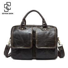 Buy Men Luxury Vintage Handbag Cowhide Genuine Leather Bags Mens Messenger Shoulder Bag Crossbody Men's Briefcase Laptop Travel Bags for $48.49 in AliExpress store