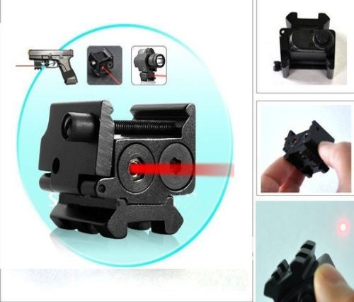 Hot Compact 650nm Red Laser Sight Dual Weaver Rail Mount For Pistol Gun Hunting RL3-0012(China (Mainland))