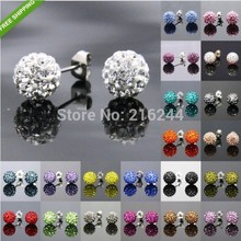 Free shipping (Min order $10) 2014 Fashion Shambhala  stud earrings colorful