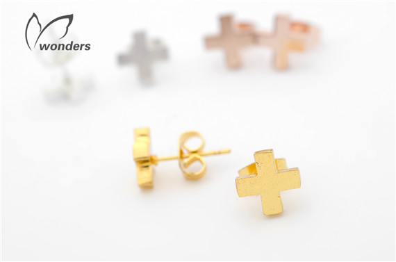 Classic Tiny Jesus Cross Stainless Steel Stud Earrings Jewelry Gold Silver Rose Gold Plated Gifts<br><br>Aliexpress