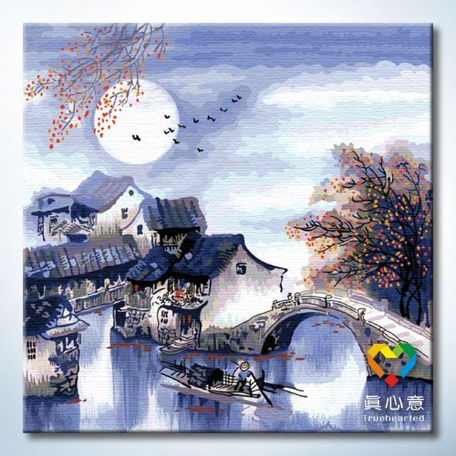 Colored drawing diy digital oil painting decorative painting - 60 60cm