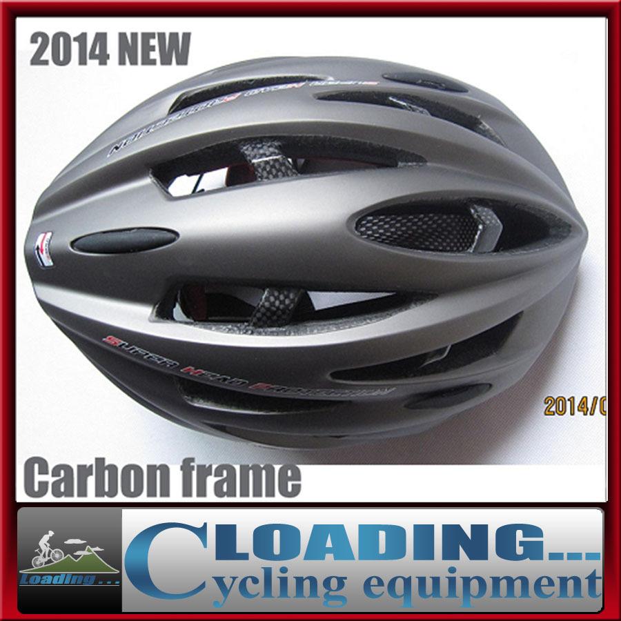 2014NEW adult man woman Carbon Fiber Frame cycling helmet/285g mtb road bike head gear EPS+PE adjustable 57-61cm  red black blue
