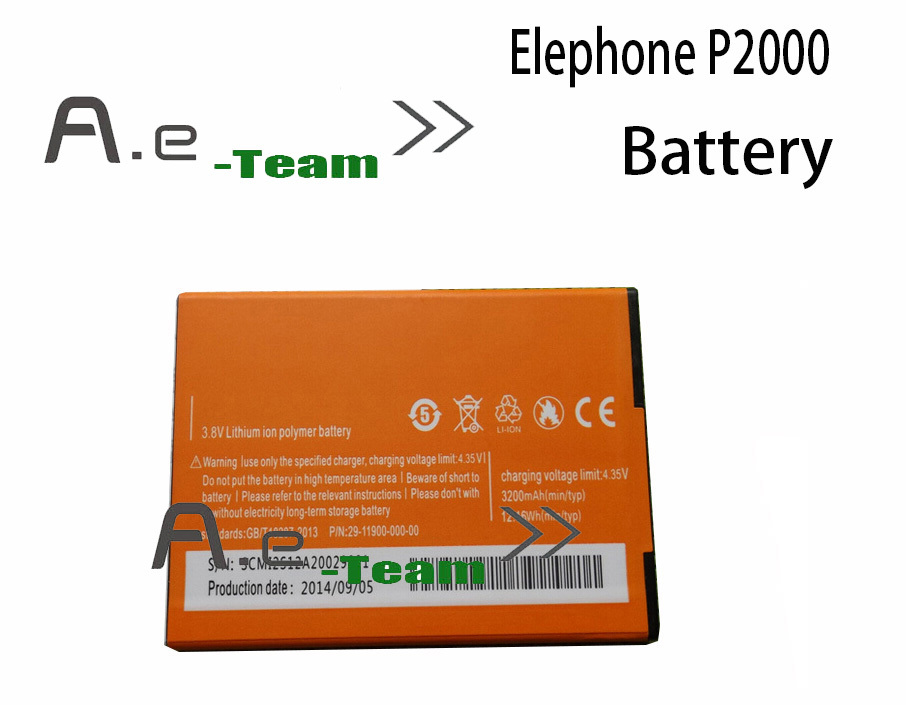 Elephone P2000 Original Battery High Quality 3200mAh Li ion Battery Replacement for Elephone P2000 P2000C Free