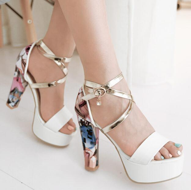 high heels gladiator sandals women fashion sandals lady sexy dress cross tied leather shoes woman high heeled sandal<br><br>Aliexpress