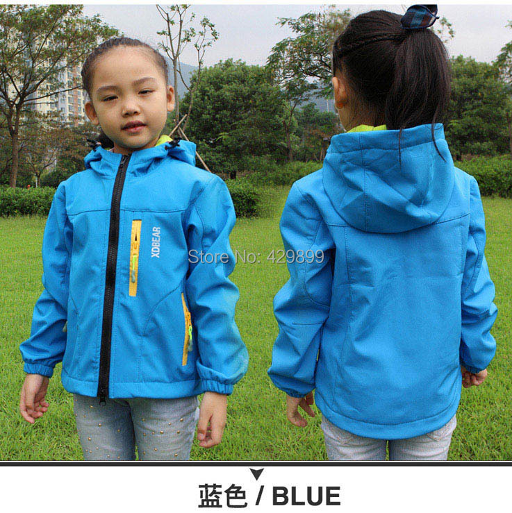2015 New Kids Spring Autumn Camping Hiking Jacket Girl Outdoor Fleece Coat Boy Waterproof Hunting Children Outwear Plus Size - Young style store