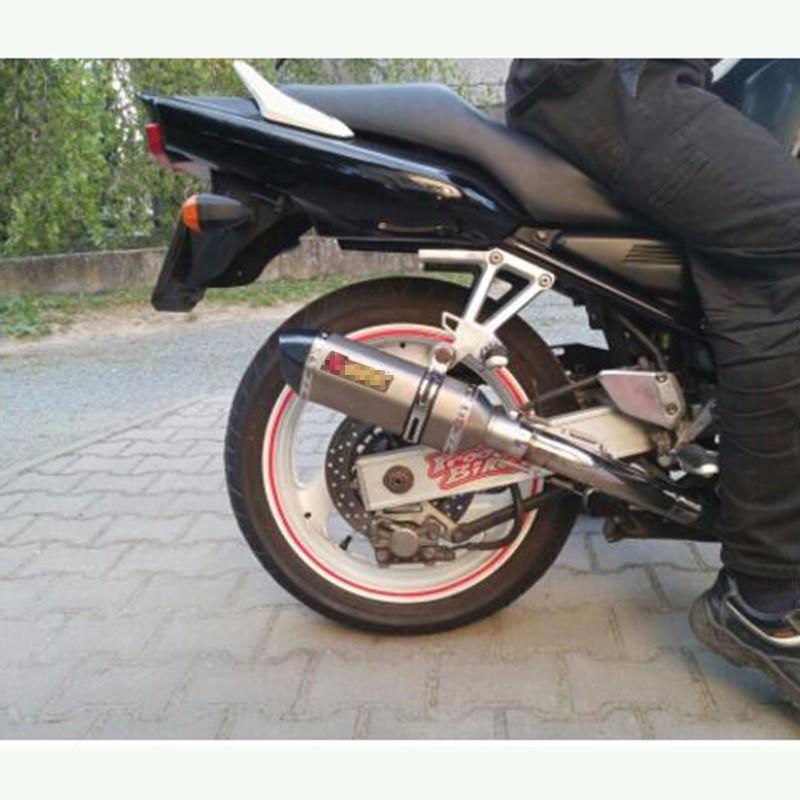 Купить Универсальный Мотоцикл Изменение Скутер Akrapovic Выхлопная труба Муфельные GY6 CBR125 CBR CBR250 CB400 CB600 YAMAHA FZ400 Z750 Хороший Звук