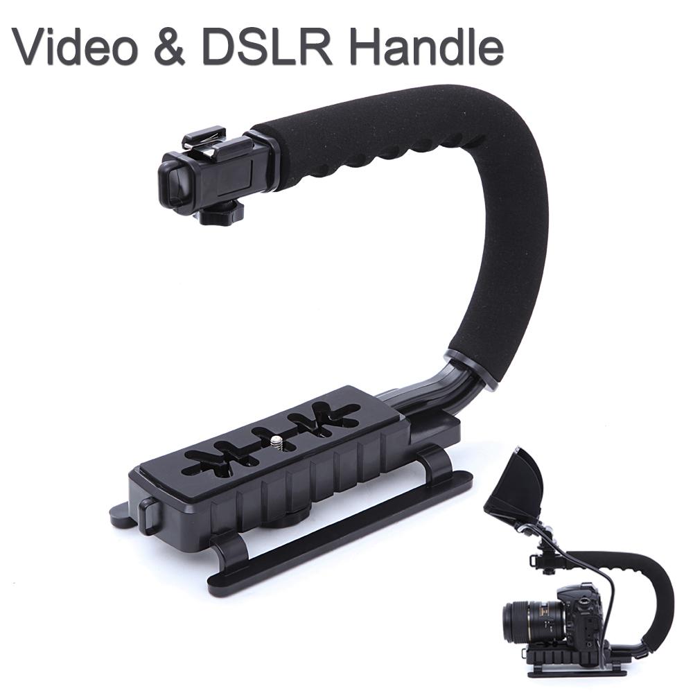C Shape flash Bracket holder Video Handle Handheld Stabilizer Grip for DSLR SLR Camera Phone Gopro AEE Mini DV Camcorder(China (Mainland))