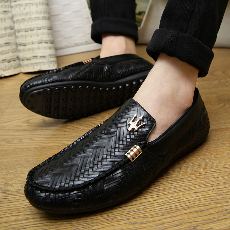 New spring summer men loafers slip-on casual leather boats platform sport driving shoes breathable moccasins flats Z029(China (Mainland))