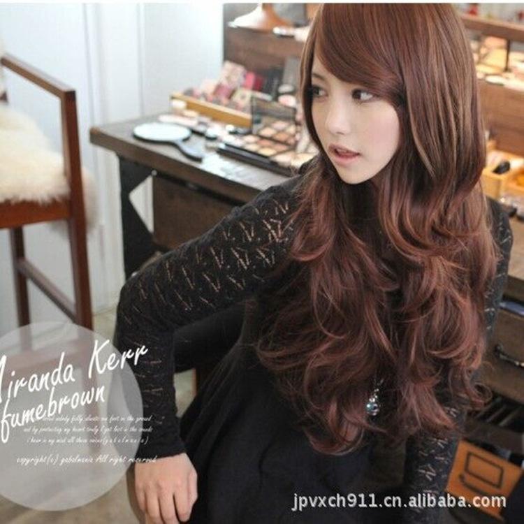 Гаджет  Fashion wig long curly hair fluffy hair wig popular Yiwu oblique bangs factory direct supply s6022 None Промышленность и бизнес