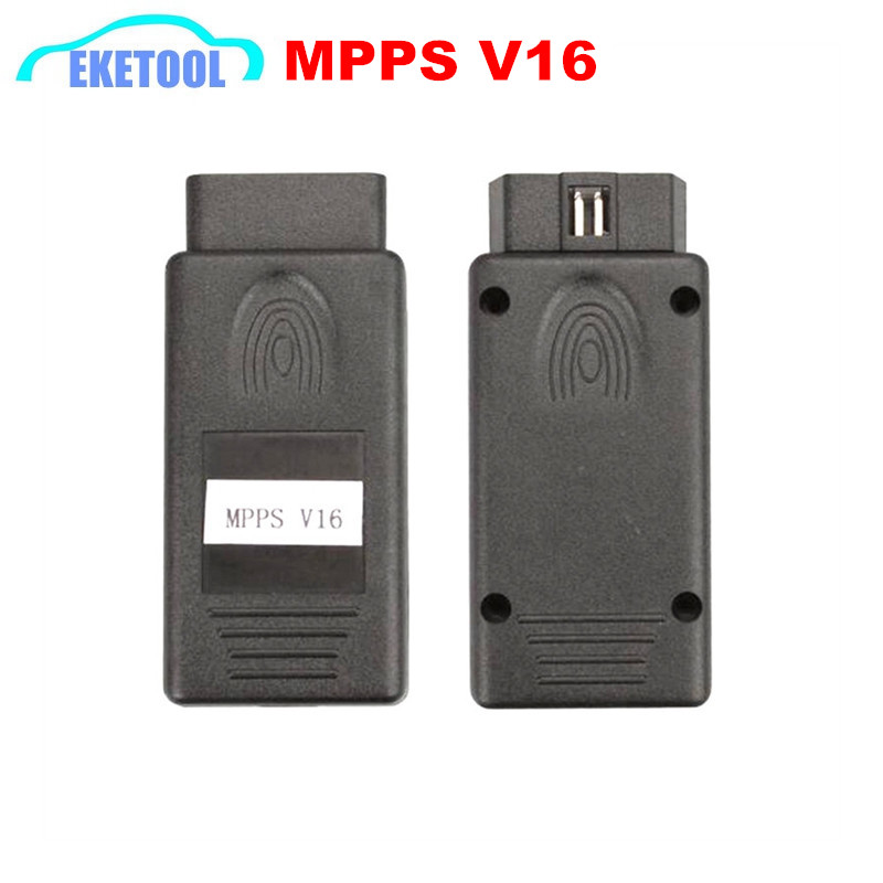 High Function Professional ECU Chip Tuning MPPS V16 Checksum CAN Flasher Remap OBDII ECU Programmer MPPS Black For EDC 15/16/17(China (Mainland))