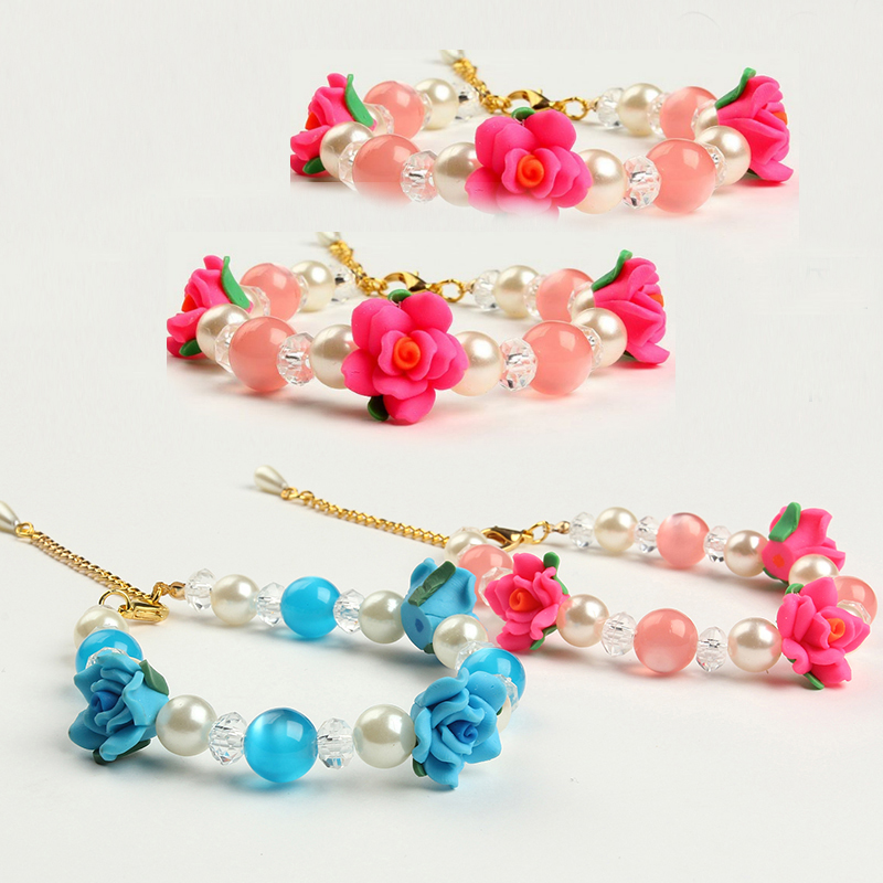 2016 Luxury Pearl Rose Puppy Cat Necklae Fashion Collar For Small Dogs Kitten Wedding Accessories Poodle Dog Pet Products(China (Mainland))