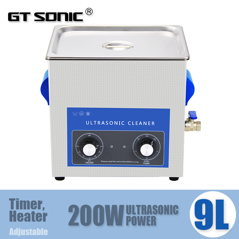 Digital Ultrasonic auto parts cleaner 9L with free cleaning basket VGT-1990QT(China (Mainland))