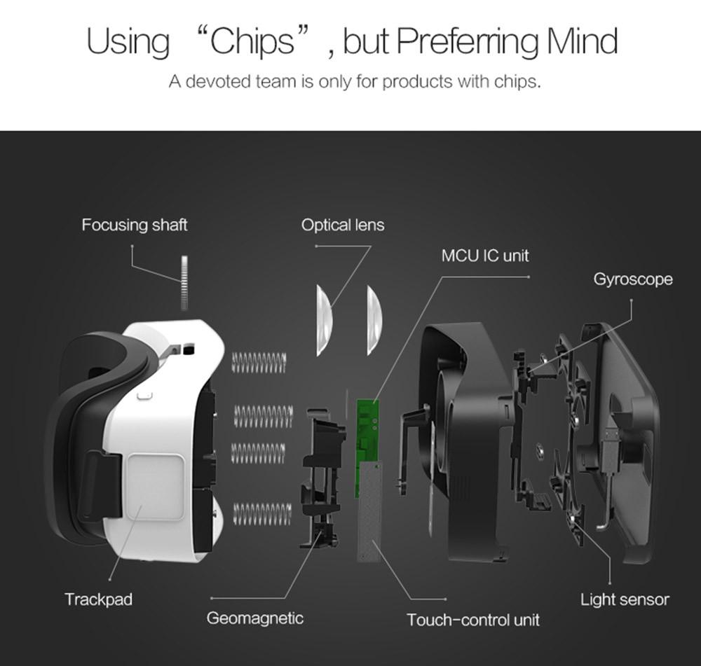 ถูก ร้อนDlodloแก้วH1 3D VRความจริงเสมือนชุดหูฟังในตัวmicro usb 9แกนmสำหรับ5.0-6.0นิ้วandroidมาร์ทโฟน